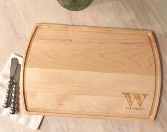 personalized cutting board, Personalized cheese board, monogrammed cutting board, Serving board, Wedding gift idea, Housewarming gift idea
