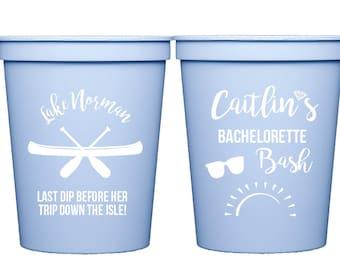 Lake bachelorette party, Lake house bachelorette bash, Lake trip cups, Personalized bachelorette cups, Bachelorette bash cups, Party cups