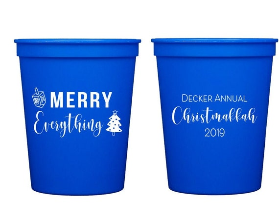 Christmukkah cups, Christmukkah gift, Have yourself a merry little cocktail, Personalized party cups, Cute holiday party cups, Plastic cups