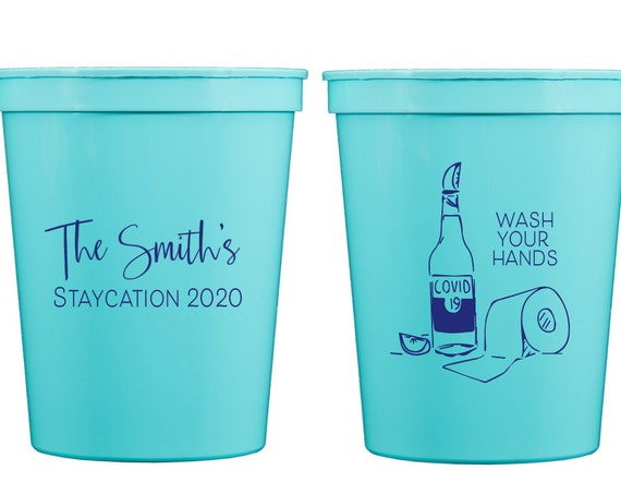 Wash you hands, Stay home, Social distancing cups, Funny social distancing gift idea, Staycation cups, Quarantine cups, Quarantine and chill