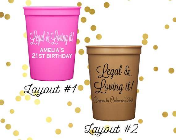 personalized birthday cups, party cups, personalized stadium cups, 21st birthday cups, 30th birthday cups, 40th birthday cups