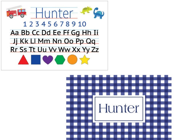 Kids placemat, Laminated placemat, Alphabet Placemat, Personalized placemat, Personalized gift for kids, Toddler placemat, Kids gift idea