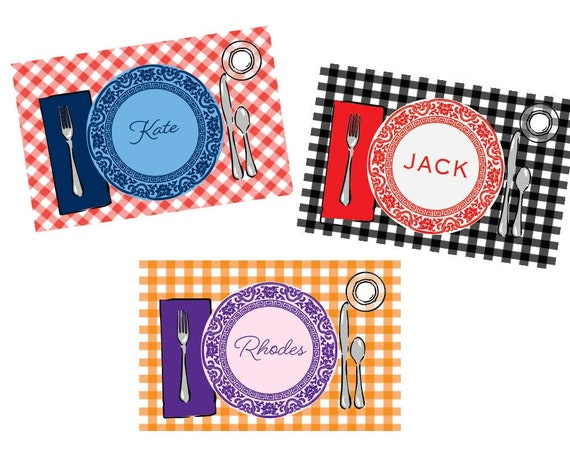 Kids Personalized Placemat, Kids Placemat, Laminated placemat, Football placemat, Football fan gift idea, Cute toddler gift, Cute placemat