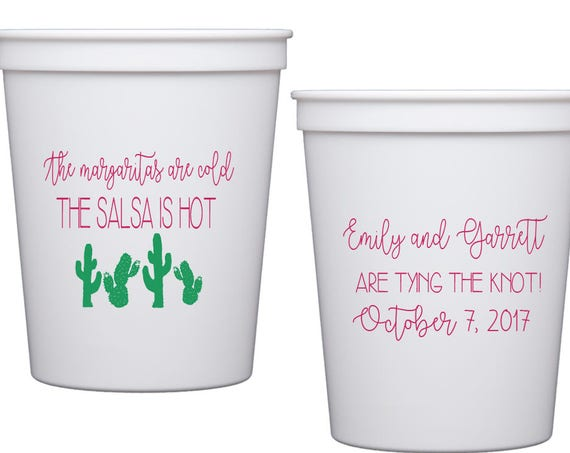 Fiesta wedding shower cups