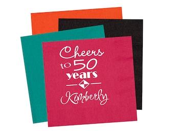 50th Birthday napkins Birthday party napkins birthday party decor birthday party supplies adult birthday party 40th birthday party napkins
