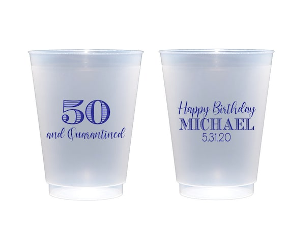 Quarantined birthday, Social distancing birthday, Personalized cups, Personalized birthday cups, Adult birthday party, Adult party favor