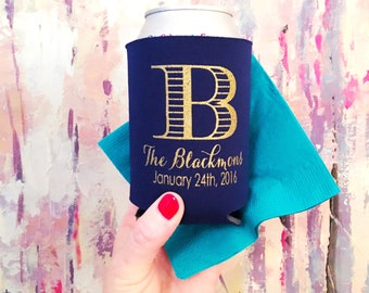Personalized Neoprene huggie, Reception can cooler, wedding cup, custom cup, wedding favor, drink sleeve