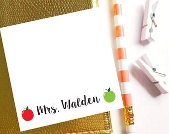 Teacher sticky note, Personalized Sticky Notes, Personalized Post It Notes, Apple sticky notes, Teacher notepad, Back to school notepad