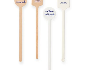 Personalized drink stirrers , foil stamped stirrers, wood drink stirrer, monogrammed stirrer stick, custom stirrers, drink stirrers