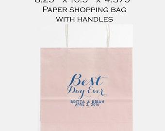 Welcome bag, favor bag, custom bag, reception bag, personalized paper bag, shopping tote