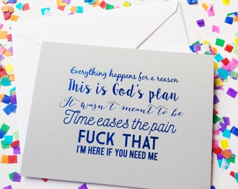 Life sucks sometimes, Encouragement card, Sympathy card, Friendship greeting card, Infertility card, Support difficult times card