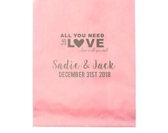 Personalized party bag, custom party favor bag, candy bar bag, custom treat bag, kids birthday party bag, personalized paper bag, goodie bag