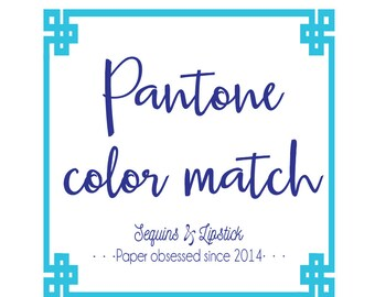 Pantone color match fee
