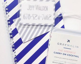 Custom luggage tag, diaper bag tag, gym bag tag, travel tag, personalized luggage tag