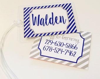 Custom luggage tag, diaper bag tag, gym bag tag, travel tag, personalized luggage tag, Baby shower gift idea, personalized tag, plastic tag