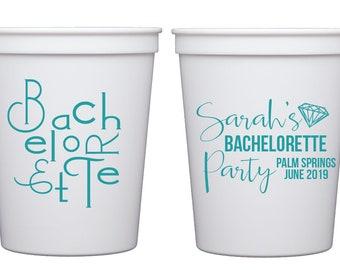 bachelorette party cups,Personalized plastic cups, Bachelorette stadium cups, bachelorette bash cups, Bachelorette favor, Bride tribe cups