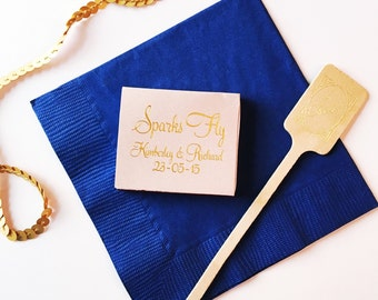 Wedding matches, Personalized matchbook, reception matches, wedding matchbox, wedding matchbook