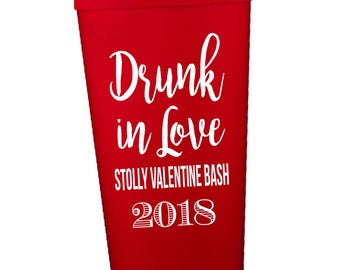 Valentines day cups, valentines cup, drunk in love, vday cup, valentines day party, valentines day decorations, vday party, valentines bash