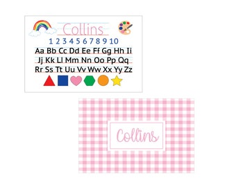 Laminated personalized placemat number 4