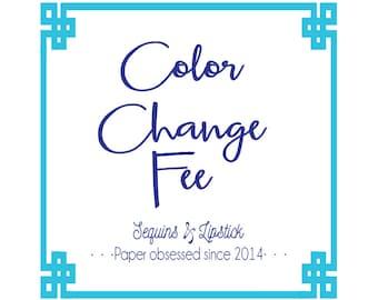 Color change fee, Split color fee
