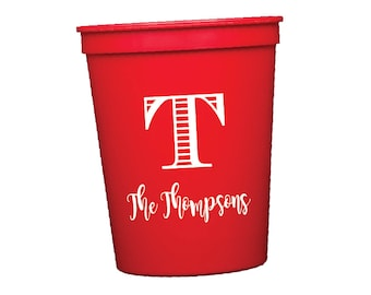 personalized cups plastic cups stadium cups monogrammed cups party cups wedding cups custom cups wedding favors personalized stadium cup
