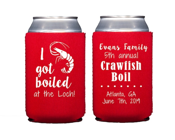 Low country boil can cooler, Shrimp boil can cooler, Crawfish boil can cooler, Low country boil wedding shower, Family reunion can cooler