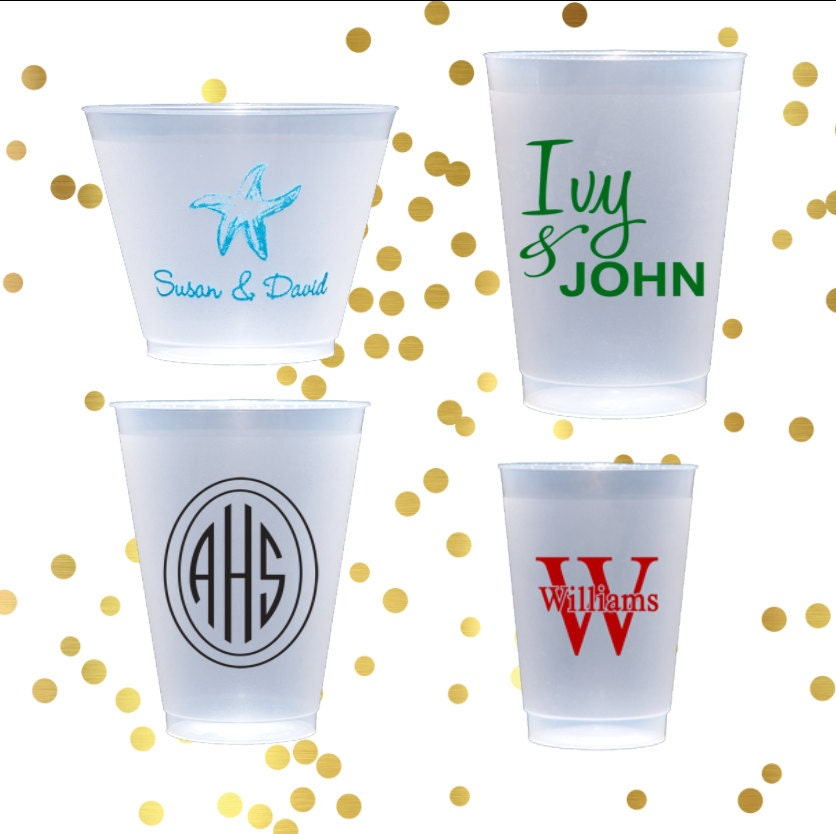 Personalized Plastic Cup Monogrammed Shatterproof Cup Birthday