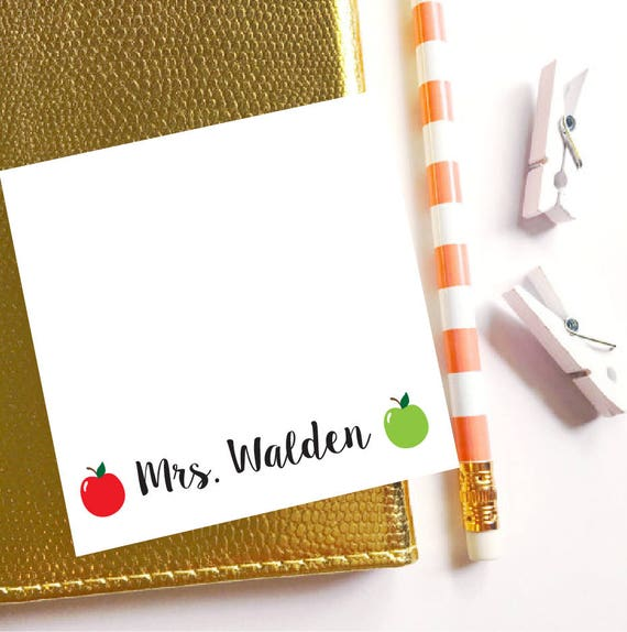 Teacher sticky note, Personalized Sticky Notes, Personalized Post It Notes, Apple sticky notes, Teacher notepad, Back to school notepad