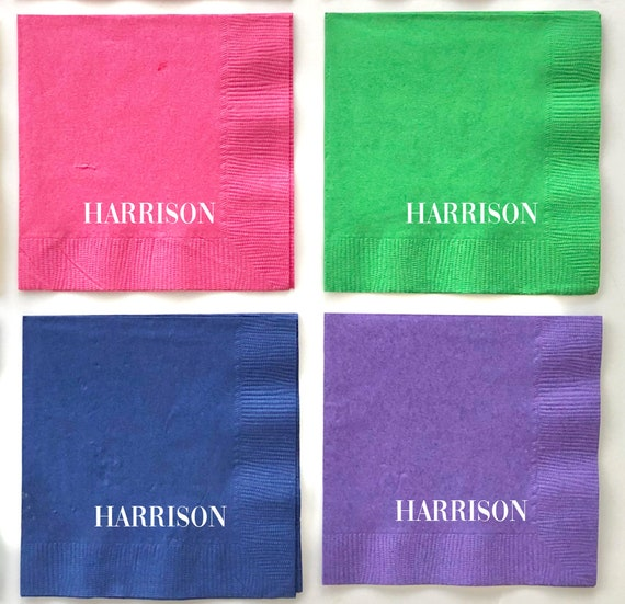 Personalized napkins, Personalized gift, Custom napkins, Foil stamped napkins, Bar cart napkins, Housewarming gift, Housewarming party decor