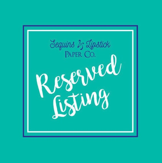 Reserved Listing, Lisi Lerch