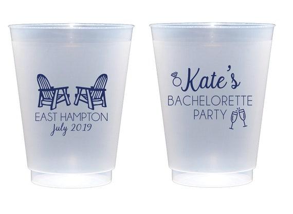 Hamptons bachelorette party cups, Beach bachelorette party, Lake bachelorette party, Personalized bachelorette cups, Shatterproof party cups