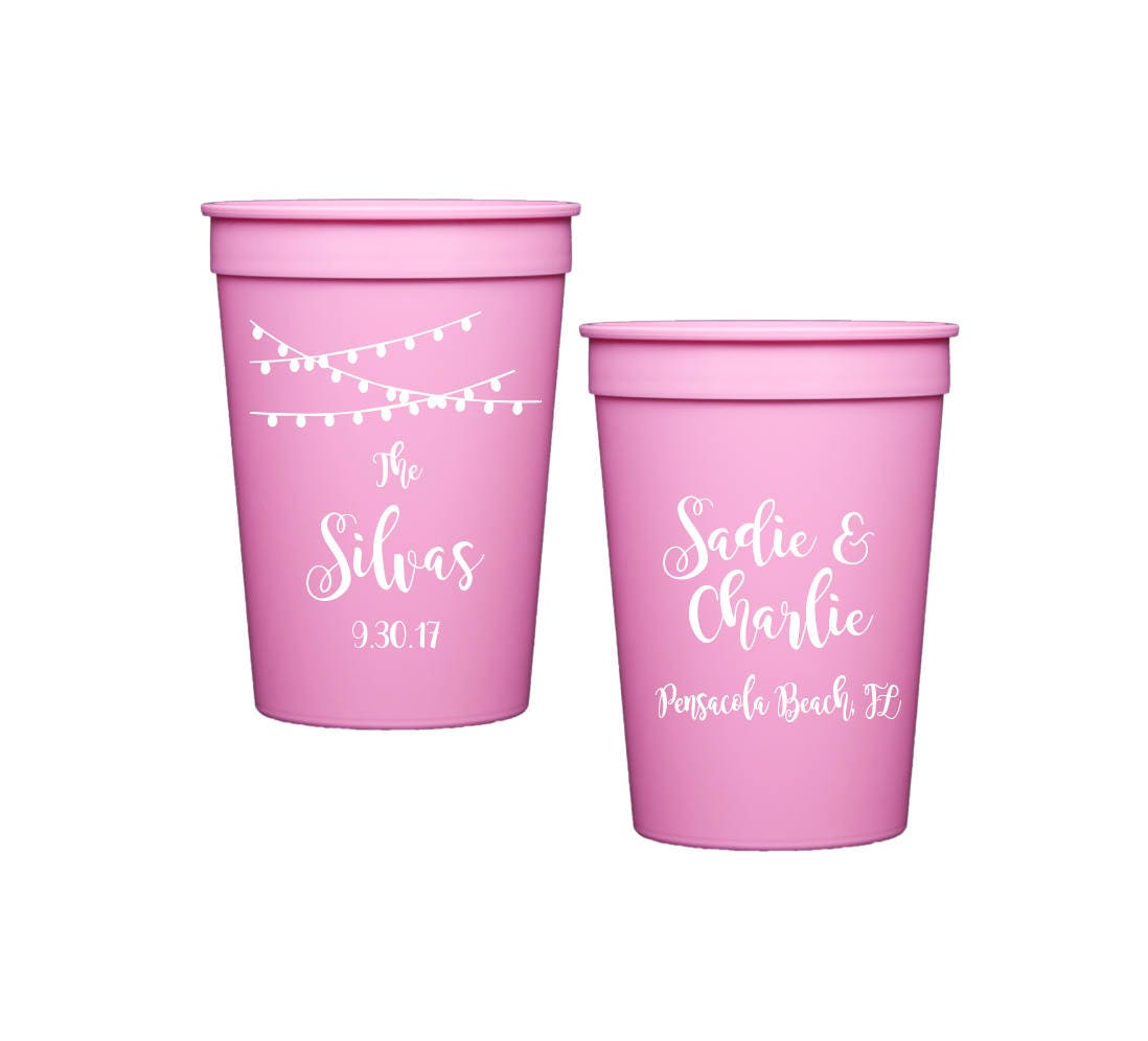 Wedding Cups Personalized Reception Cups Wedding Stadium Cups