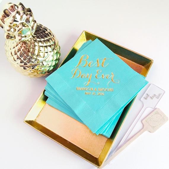 cocktail napkins, reception napkins, wedding napkins