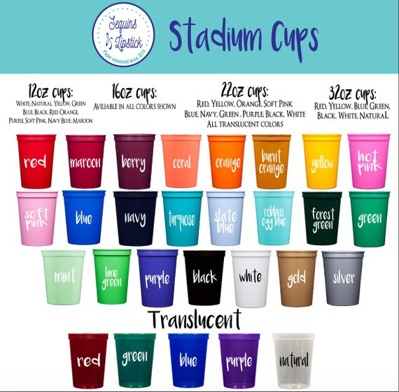 personalized plastic cups, wedding cups, personalized stadium cups, party cups, monogrammed plastic cups, reception cups, birthday party cup