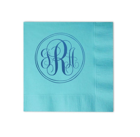 wedding napkins, monogrammed napkins, cocktail napkins, reception napkins, personalized napkins, custom napkins, wedding shower napkins