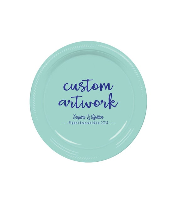 personalized plates, custom plate, plastic party plates, personalized party plates, monogrammed plate, disposable plate, plastic plates