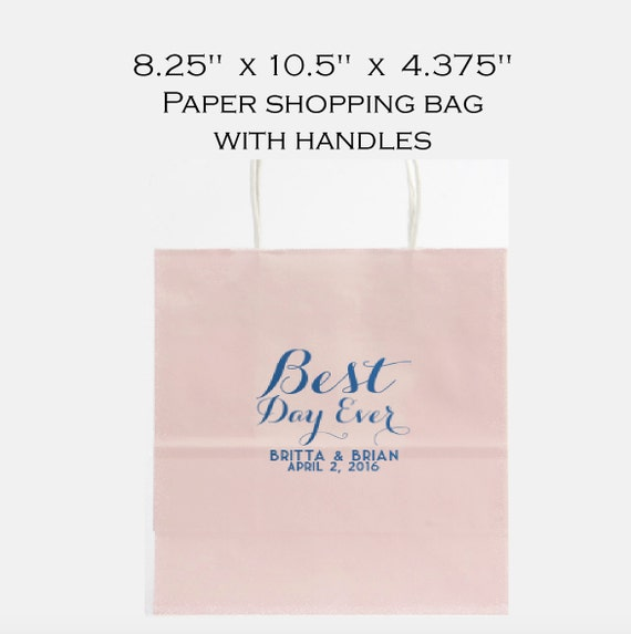 Welcome bag, favor bag, custom bag, reception bag, personalized paper bag, shopping tote