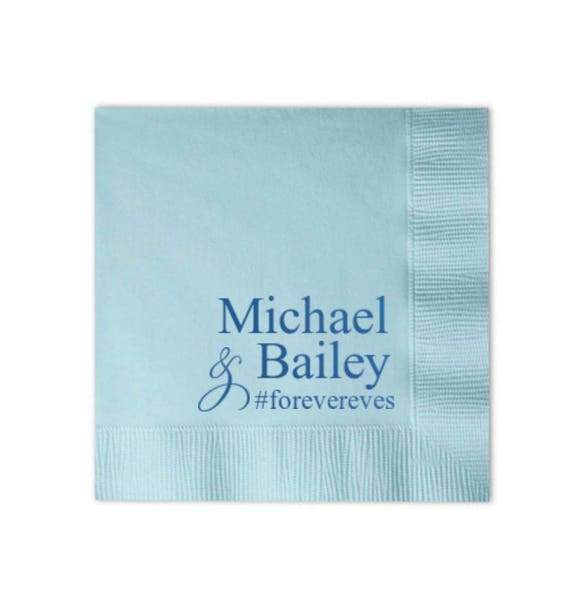 wedding napkins personalized napkins custom napkins reception napkins bar area napkins cake table napkins cocktail napkins beverage napkins