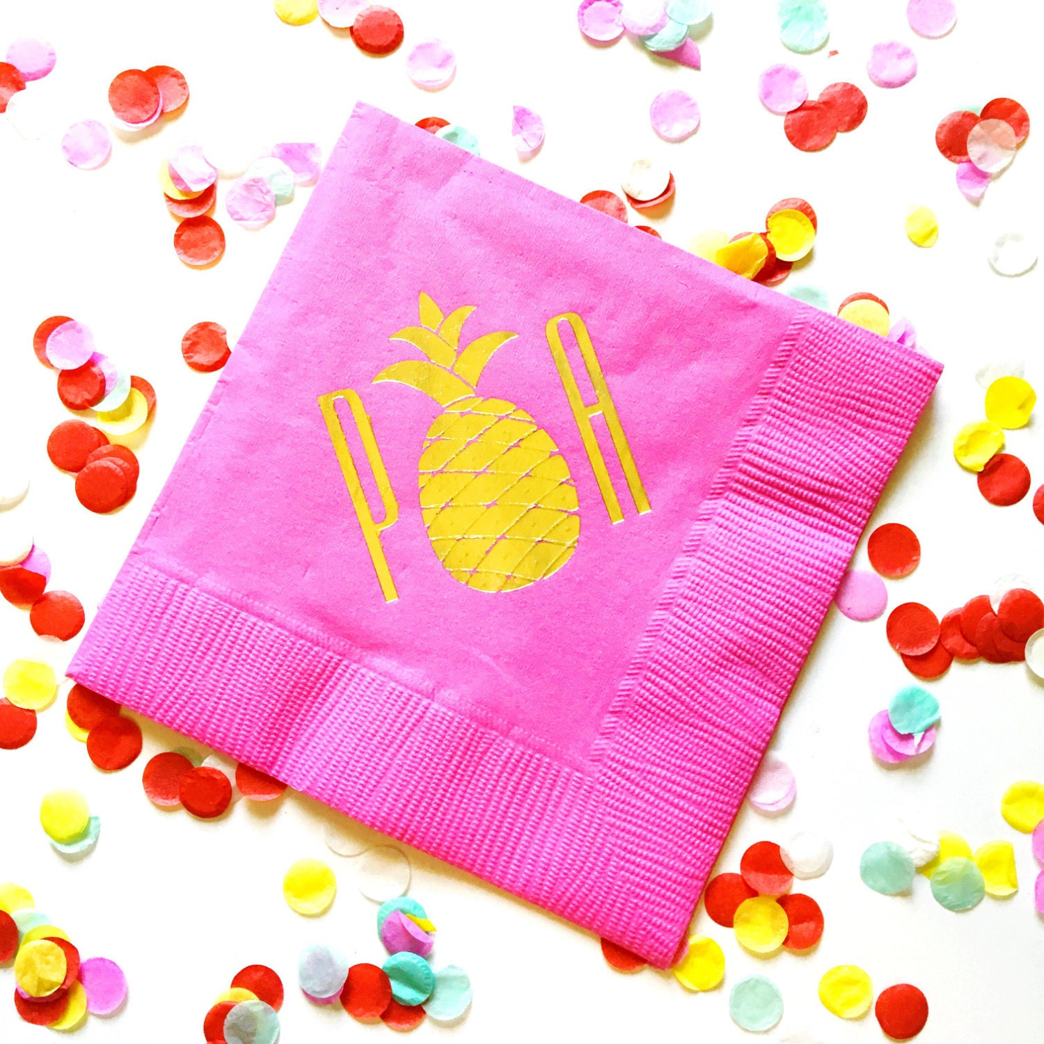 Pineapple Napkins Monogrammed Napkins Personalized Party