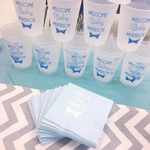 Baby shower bowtie cups