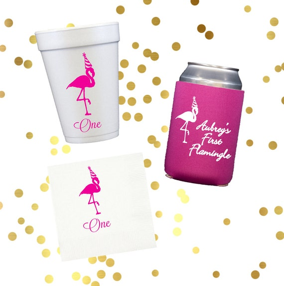 Flamingo party, First birthday, Bachelorette party cups, personalized foam cups, birthday party favors, pool party, lake house cups