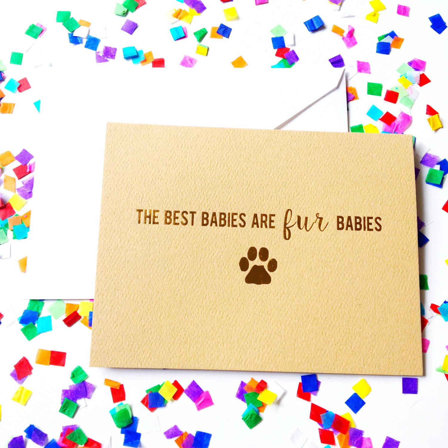 Fur Baby Greeting Card Dog Lover Cat Lady Dad