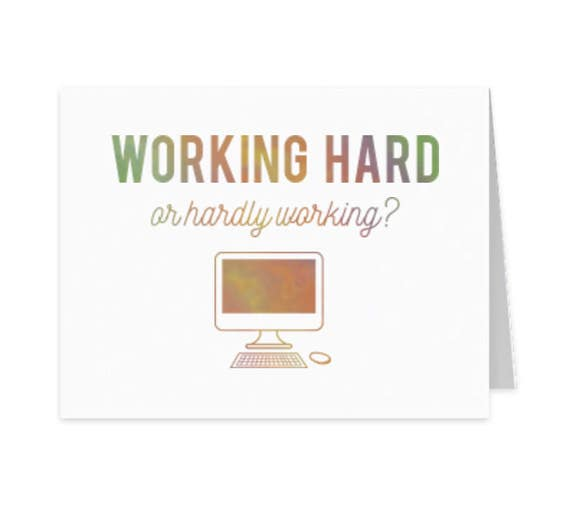 Work from home, Social distancing card, New job, New career, Encouragement card, Funny snail mail, Friendship greeting card, Boss card