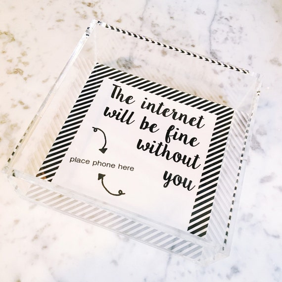 The internet will be fine without you tray, graduation gift idea, fathers day gift idea, night stand tray, decorative tray, funny gift idea