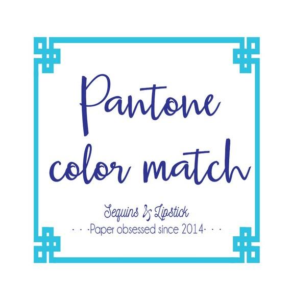 Pantone color match fee