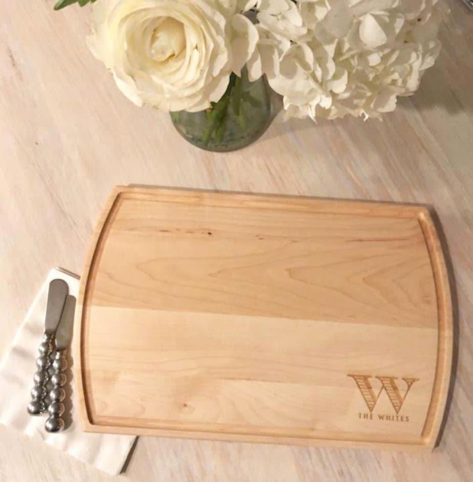 Personalized Cutting Board American Hardwood Made in USA