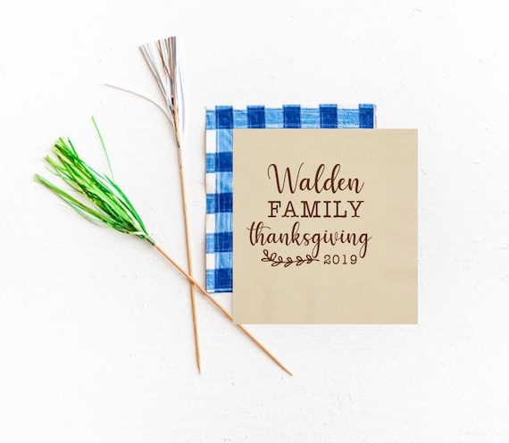 Family Thanksgiving napkins, Personalized Thanksgiving napkins, Personalized paper napkins, Cute Thanksgiving napkins, holiday napkins