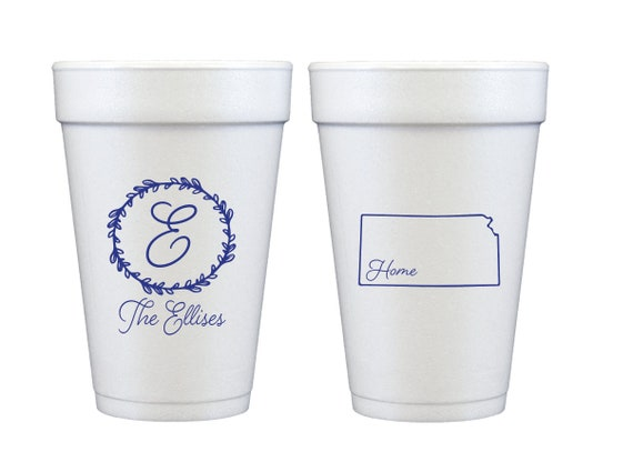 Home sweet home cups, Housewarming cup, Housewarming party cups, Housewarming gift idea, State outline cups, State pride cups, Foam cups