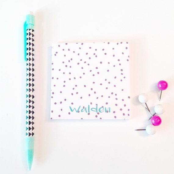 Personalized Sticky Note, Personalized Post It Notes, Polka dot notepad, Spotted stationery, Personalized Note Pad, Cute Office Supplies