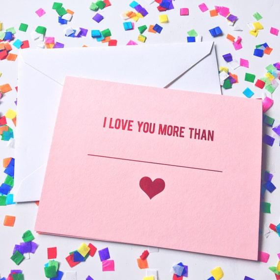 Social distancing card, Valentines day card, galentines day card, Anniversary card, I love you Greeting card, I love you more than